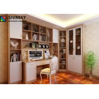 Quality L Shape Home Office Bookcase MDF Panel / wooden Bookshelf study table for sale
