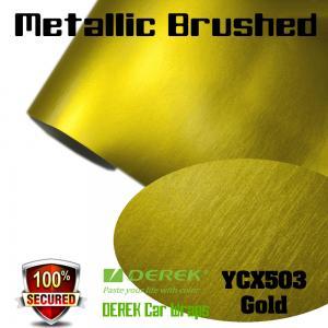 Quality Matte Metallic Brushed Vinyl Wrapping Film - Matte Metallic Brushed Gold for sale