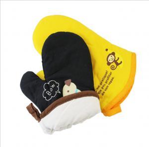 Quality Printed Cotton Heat Resistant Oven Gloves , Pot Holder Gloves Easy Slip On for sale