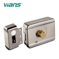 China Electric Rim Door Lock With Brass Cylinder , Electronic Door Locks For Homes on sale