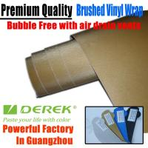 Quality Brushed Aluminum Vinyl Flex Car Wrapping Film -- Brushed Vinyl Gold for sale