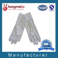 China marching band uniform with black cuff cotton glove working glove etiquette gloves with dots on the plam on sale