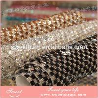 Quality fashion hotfix square crystal rhinestone net mesh for lady's Bling Shoes for sale