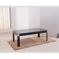 China Tea Furniture Table And Chairs Low Profile Glass Table Top Wood Framework on sale