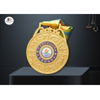 Sport Events Medal With 3D Effect Players Along The Rim for sale