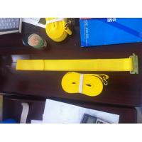 Quality WLL 3335 LBS Polyester Ratchet Straps , Yellow Car Trailer Straps CE Approved for sale