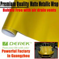 Quality Matte Metallic Car Wrapping Films - Matte Metallic Gold for sale