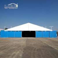 Quality A shaped Military warehouse tent with large entrance and hard walls for sale for sale