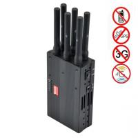 6 Antenna High Power Portable Cell Phone Signal Jammer Blocking GSM 3G 4G LTE WIMAX GPS