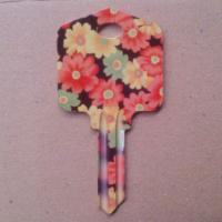 Quality UL050 Big Head Dye Sublimation Printed House Keys With Fashionable Patterns for sale