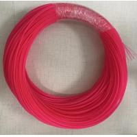 Quality 2MM PET Expandable Sleeving , Pink Orange High Tensile Strength Braided Sleeve For Fiber Optic Cable for sale