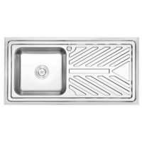 Buy cheap 100*50CM plating or satin Long Kitchen sink Stainless steel sanitaryware price from wholesalers