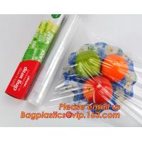 Quality Waterproof transparent pe pvc 12mic 30cm customized food wrap,China stretch cling wrap manufacturer pe food wrap with for sale