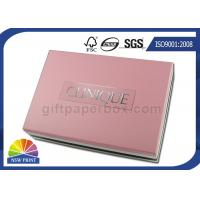 Best Cosmetic Gift Packaging Colored Blister Tray Rigid Paper Box with Detachable Lid wholesale