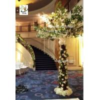 Quality UVG New design 3m White cherry blossom indoor artificial tree for wedding decoration for sale