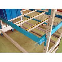 China Powder Coating Carton Pallet Flow Rack Aluminum Alloy Flow Rails With Plastic Rollers on sale