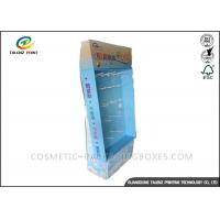 Quality Advertising Cardboard Stand Up Display , Cardboard Display Shelves Sky Blue Appearance for sale