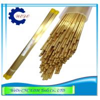Quality Double Channel  EDM Electrode Pipe / Brass Tube For EDM Drill Machine 0.9x400mm for sale