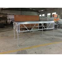Quality 6082-T6 Aluminum Assemble Plywood Stage / 1.22 X 2.44m Outdoor Event Portable Stage for sale