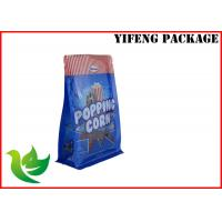 Best Popping Corn 8 Side Sealed Flat Bottom Pouch PET PE Standup Pouches Printing wholesale