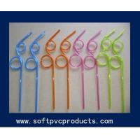 Quality Soft PVC Rubber Silicone Drinking Straw Holder / Recyled Plastic Drink Straws for sale