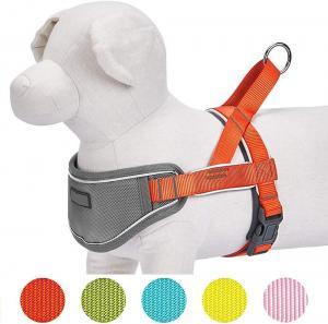 China Soft Neoprene Nylon Dog Harness , 3m Reflective Dog Harness One Click Buckle on sale