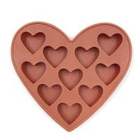 10 Cavities Silicone Heart Shaped Ice Cube Trays For Chocolate Ice Cream Cake