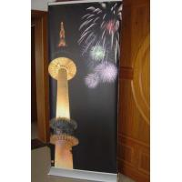 Buy wide base roll up banner stand,advertising banner stand,aluminum banner size80*200cm at wholesale prices