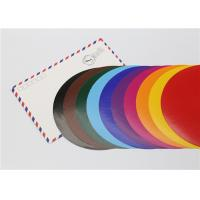 Lick - To - Stick Colored Paper Circles , Glossy Construction Paper Circles