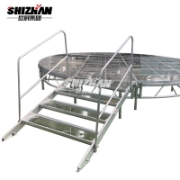 Quality Portable Outdoor Glass Floor Aluminum Stage Platforms 950kg Loading Capacity for sale
