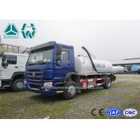 Quality Environmental Vacuum Sewage Suction Trucks , HOWO 4 x 2 Sewer Cleaning Truck for sale