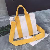 Buy cheap Wholesale New fashion simple custom cotton canvas tote Cross-body bags from wholesalers