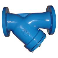 Quality Blue Grey Flanged Y Strainer Rust Proof Cast Iron Y Strainer Long Working Life for sale