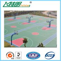 Quality Environmental Outdoor Athletic Court Polyurethane Sports Flooring Green for sale