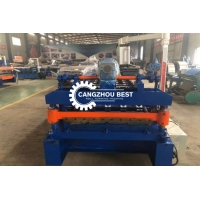 China 0.8mm 12m/Min Glazed Tile Roof Panel Roll Forming Machine With CE for sale