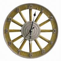 Buy cheap Art Clock, Made of Resin, Customized Requirements, Shapes and Designs are Accepted from wholesalers