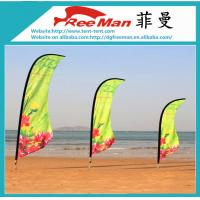 Quality Aluminum And Fiberglass Pole Beach Flag Banner , Outdoor Teardrop Flags for sale
