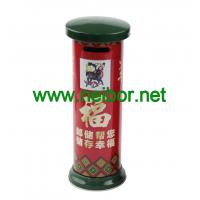 Quality Chinese style mailbox shaped money box tin coin bank donation box for sale