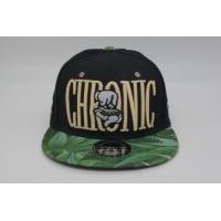 Buy cheap BSCI Flat Brim Snapback Cap , Men 's Black 3d Embroidery 6 Panel Custom Snapback from wholesalers