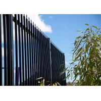 Quality Crimped Top Powder Coated Steel Fencing for sale