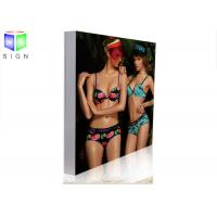 Quality Fabric Slim LED Light Box Sign Photo Display Light Box Aluminum Frame for sale