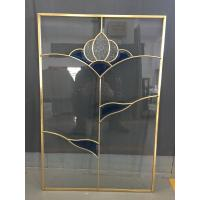 China cabinet door decorative  glass of brass caming 2017new designs on sale