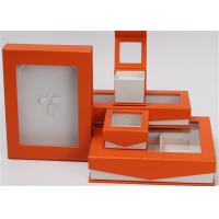 Buy Kraft Paper Jewelry Box Screen Printing Logo With Lids Environmentally Friendly at wholesale prices