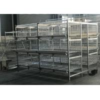 Quality Anti - Corrosion Broiler Chicken Cage Farming Epidemic Disease Easy Controlled for sale