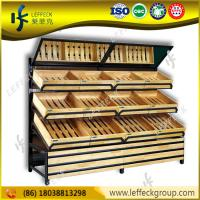 Best super markets wooden shelf/ vegetable and fruit display shelf wholesale