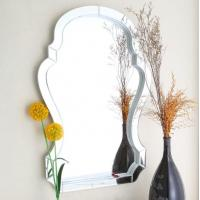 Quality Water Proof Sliver Antiqued Glass Wall Mirror Customized Logo Available for sale