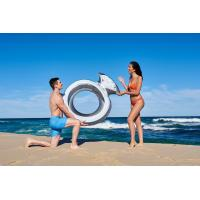 Quality Inflatable Giant Diamond Ring Metallic Pool Float Toy Summer Raft Airbed Lounge for sale