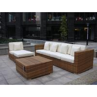 Indoor / Outdoor Rattan Furniture , Cane Corner Sofa For Meeting Room
