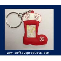 Quality Eco-friendly Advertising Promotional Gifts PVC Photo Frame , Cute Boots Keychain Picture Frame for sale