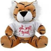 Quality Brown Tiger With T Shirt Soft Toy Plush Toy for sale